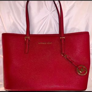 Red Michael Kors Handbag/Tote